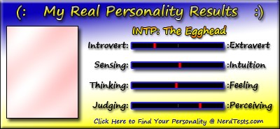 Take the Fun Personality Test @ NerdTests.com