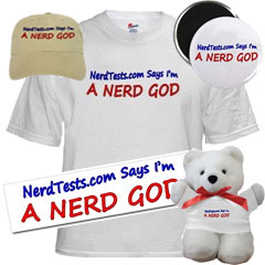 NerdTests.com Nerd God T-Shirt