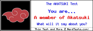 The Akatsuki Test -- Make and Take a Fun Test @ NerdTests.com's User Tests!