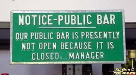 NerdTests.com - Public Bar Notice
