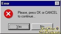 NerdTests.com - Windows Error Message