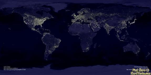 NerdTests.com - Earth's Night Lights
