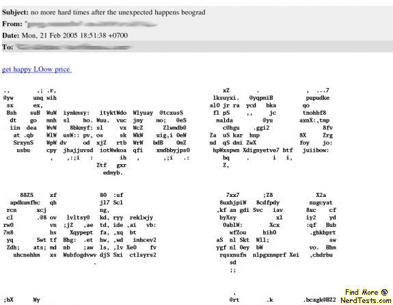 NerdTests.com - ASCII Spam