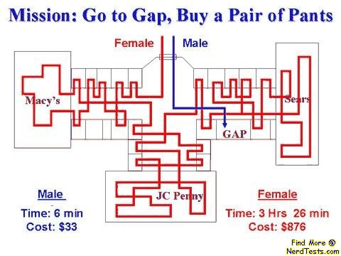NerdTests.com - Man, Woman, and the Gap
