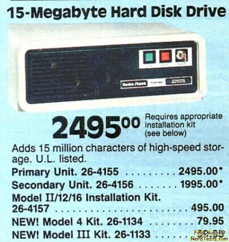 NerdTests.com - 15 MB Hard Drive