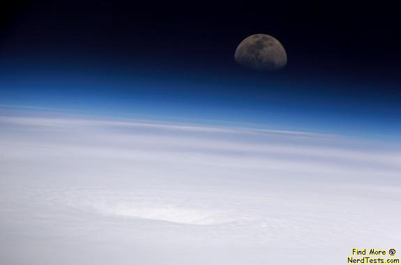 Hurricane from ISS